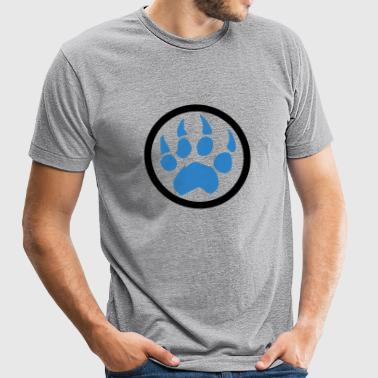 Bear - Paw - Unisex Tri-Blend T-Shirt by American Apparel