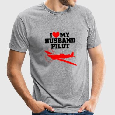 PILOT - I LOVE MY HUSBAND PILOT - Unisex Tri-Blend T-Shirt
