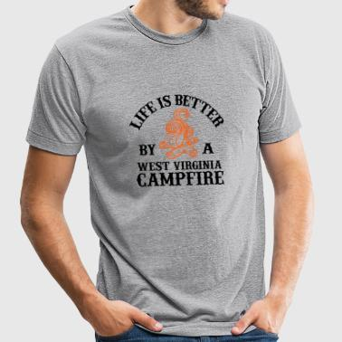 Campfire - LIFE IS BETTER BY A WEST VIRGINIA CAM - Unisex Tri-Blend T-Shirt