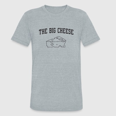 Cheese - The Big Cheese - Unisex Tri-Blend T-Shirt by American Apparel