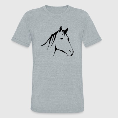 Horse - Unisex Tri-Blend T-Shirt by American Apparel