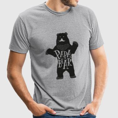 Papa bear - Father's Day - Unisex Tri-Blend T-Shirt
