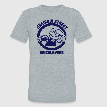 Saginaw St. Bricklayers - Unisex Tri-Blend T-Shirt
