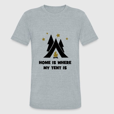 tent - Unisex Tri-Blend T-Shirt by American Apparel