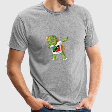 Saint Kitts and Nevis Dabbing Turtle - Unisex Tri-Blend T-Shirt