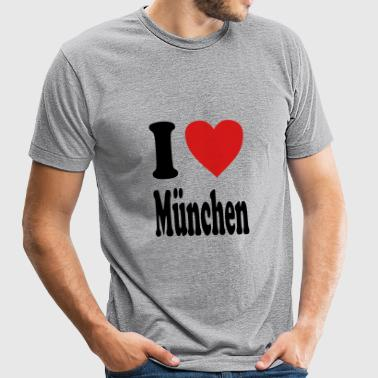 I love Muenchen (variable colors!) - Unisex Tri-Blend T-Shirt