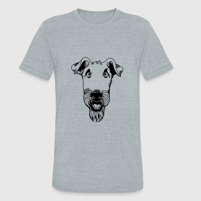 Airedale Terrier - Unisex Tri-Blend T-Shirt by American Apparel