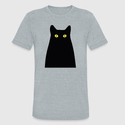 The mysterious cat - Unisex Tri-Blend T-Shirt by American Apparel