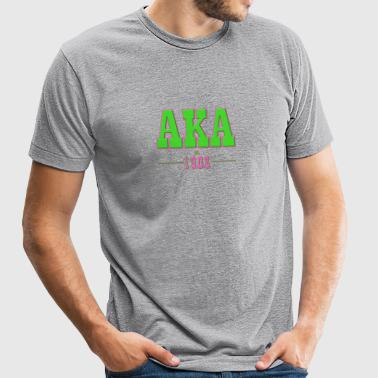 AKA Traditional 2 - Unisex Tri-Blend T-Shirt by American Apparel