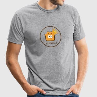 Fr33Bread Logo - Unisex Tri-Blend T-Shirt by American Apparel