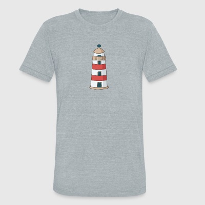 lighthouse - Unisex Tri-Blend T-Shirt by American Apparel