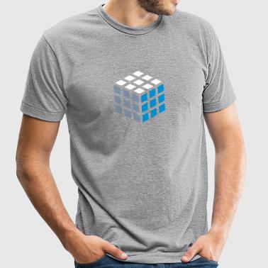 Cube - Unisex Tri-Blend T-Shirt by American Apparel