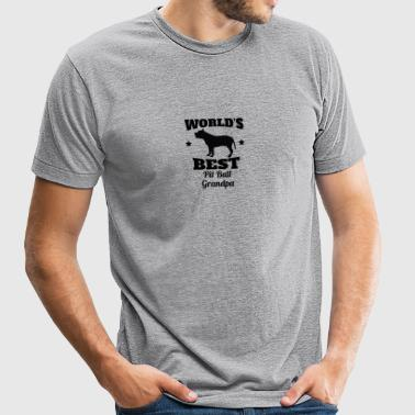 World's Best Pit Bull Grandpa - Unisex Tri-Blend T-Shirt by American Apparel