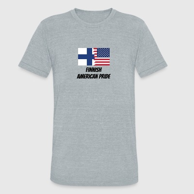 Finnish American Pride - Unisex Tri-Blend T-Shirt by American Apparel