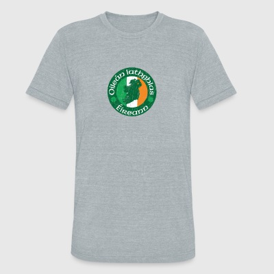 Oilen Iathghlas ireann: The Emerald Isle - Unisex Tri-Blend T-Shirt by American Apparel
