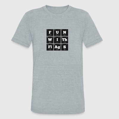 Periodic Elements: Sheldon's FUN WITh FlAgS - Unisex Tri-Blend T-Shirt by American Apparel