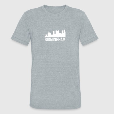 Birmingham Alabama City Skyline - Unisex Tri-Blend T-Shirt by American Apparel
