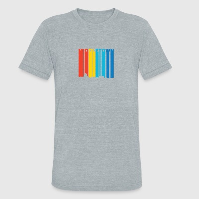Retro 1970's Style Middletown Connecticut Skyline - Unisex Tri-Blend T-Shirt by American Apparel