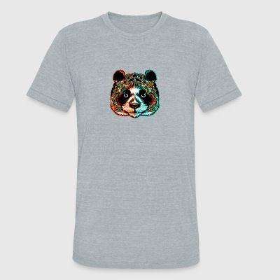 Panda Pandamonium Art - Unisex Tri-Blend T-Shirt by American Apparel