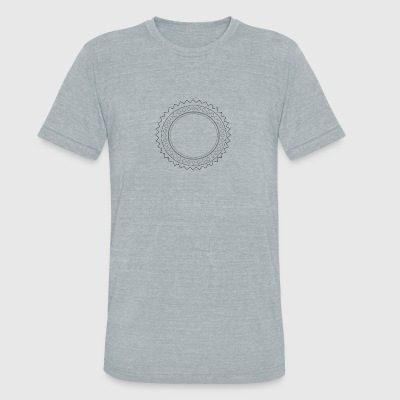 folk sun - Unisex Tri-Blend T-Shirt by American Apparel