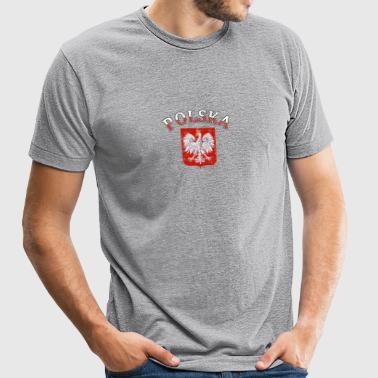 Polska Coat of arms designs - Unisex Tri-Blend T-Shirt by American Apparel