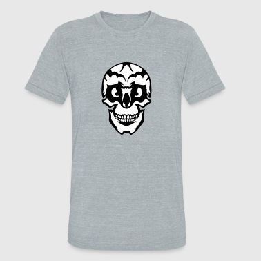 wicked appearance skull - Unisex Tri-Blend T-Shirt