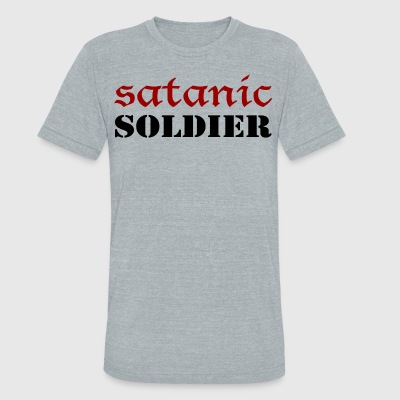 Satanic Soldier - Unisex Tri-Blend T-Shirt by American Apparel