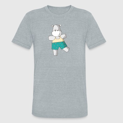 hippo - Unisex Tri-Blend T-Shirt by American Apparel