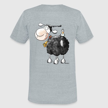 Funny Curly Sheep - Unisex Tri-Blend T-Shirt