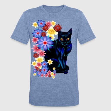 Black Garden Kitty - Unisex Tri-Blend T-Shirt