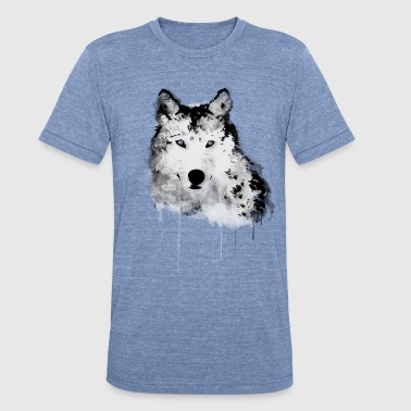 Painted Wolf - Unisex Tri-Blend T-Shirt