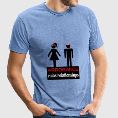 couples-arrogance-blk - Unisex Tri-Blend T-Shirt
