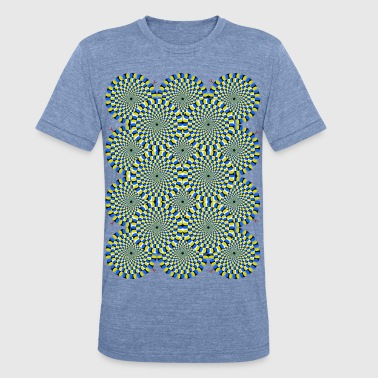 Moving Psychedelic Circles - Unisex Tri-Blend T-Shirt