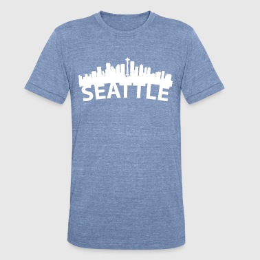 Seattle Wa Arc Skyline Of Seattle WA - Unisex Tri-Blend T-Shirt