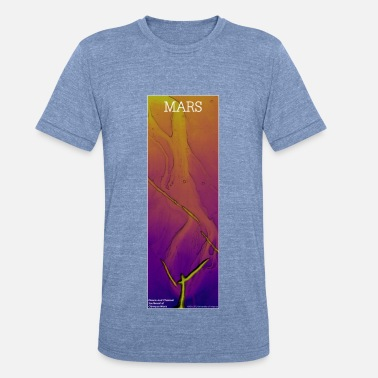 Dtm Mars - Fissure and Channel: Plasma - Unisex Tri-Blend T-Shirt