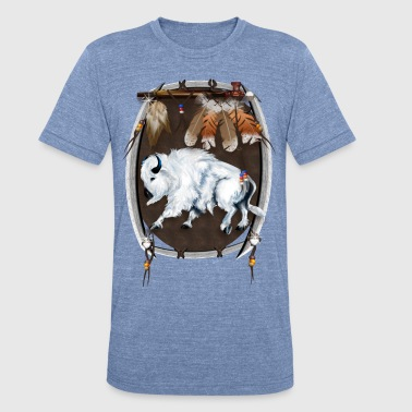 White Buffalo Shield - Unisex Tri-Blend T-Shirt