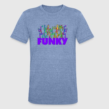 Slogan Disco Funky Psychedelic Disco Dancers - Unisex Tri-Blend T-Shirt