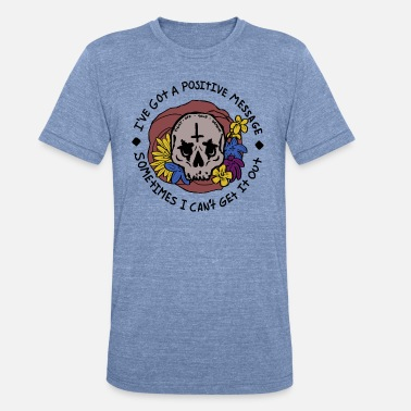 Brand New Band Can't Get it Out Skull - Unisex Tri-Blend T-Shirt