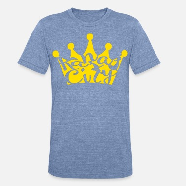 Apple Crown KC Crown in mustard yellow - Unisex Tri-Blend T-Shirt