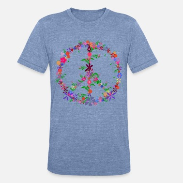Flower Peace Flower Dome - Unisex Tri-Blend T-Shirt