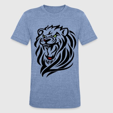 Jungle-cat darr lion head 3 - Unisex Tri-Blend T-Shirt
