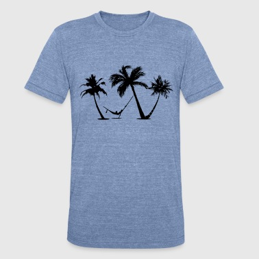 Beach Tree Palm trees Beach - Unisex Tri-Blend T-Shirt
