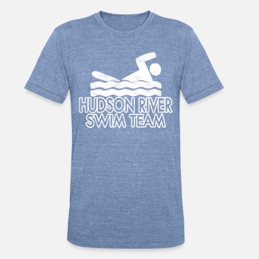 Hudson River Funny Hudson River Swim Team - Unisex Tri-Blend T-Shirt
