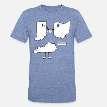 Old School Cincinnati Tri-State Threesome Shirt - Ohio, Indiana and Kentucky  - Unisex Tri-Blend T-Shirt