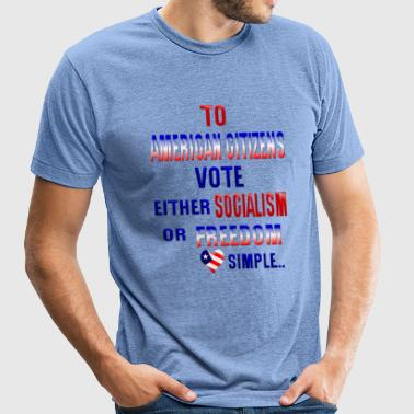 TO AMERICAN CITIZEN - Unisex Tri-Blend T-Shirt