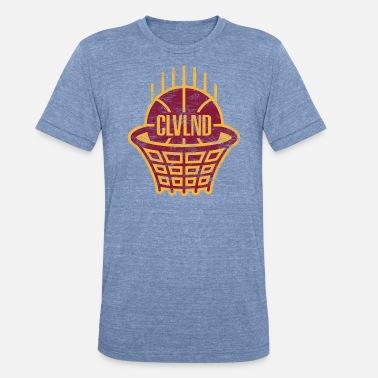 a85619d5 Cleveland CLVLND Baller Vintage T-Shirt - Wine/Gold - Unisex Tri-Blend