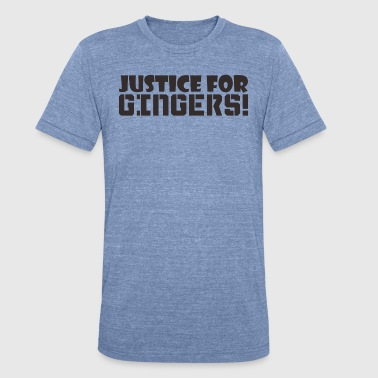 Justice Music Justice For Gingers - Unisex Tri-Blend T-Shirt