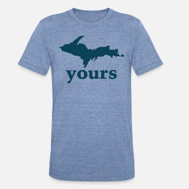 Detroit Up Yours Michigan Funny Upper Peninsula Apparel - Unisex Tri-Blend T-Shirt