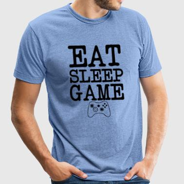Eat Sleep Game Gamers funny - Unisex Tri-Blend T-Shirt