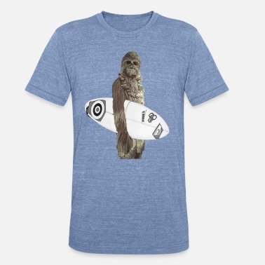 Chewbacca Chewy Surfs - Unisex Tri-Blend T-Shirt
